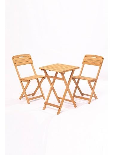 Meya Dekor Balkon - Bahçe - Mutfak 3'lü Bistro Set 2 Sandalye 1 Masa Kahve
